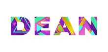 Dean Concept Retro Colorful Word Art Illustration