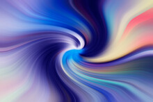 Set Of Swirls Of Different Colors Towards The Center. Contemporary Art Graphics. Trendy Abstract Wallpaper For Your Desktop.