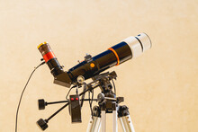 Solar Telescope Close Up On Light Background