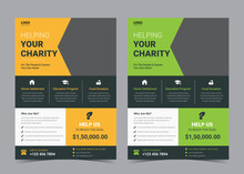 Charity Flyer Design, Life Charity Existence Promotion, Education Program.