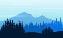 Cool Morning With Good Scenery Nature In The Countryside. City Vector