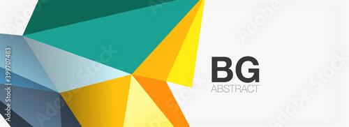 Obraz na plátně 3d mosaic abstract backgrounds, low poly shape geometric design