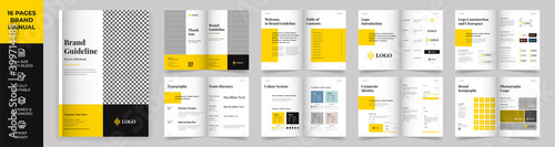 Fotografie, Obraz Brand Manual Template, Simple style and modern layout Brand Style , Brand Book,