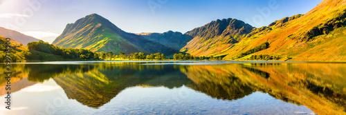 Stampa su Tela Beautiful morning panorama   of Buttermere lake in the Lake District