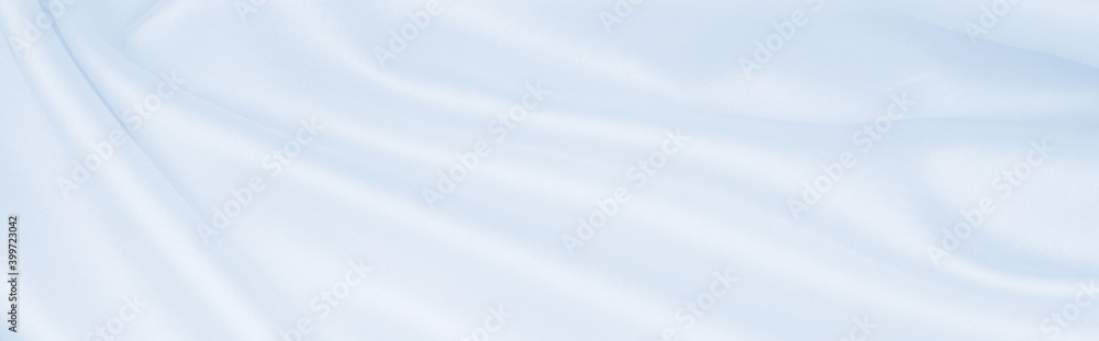 Fototapeta Smooth elegant blue silk or satin luxury cloth texture as abstract background. Luxurious background design