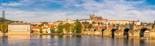 Fotografia Charles bridge and Prague castle in Prague,Czech Republic