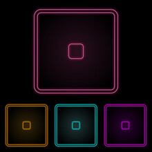 Playing Zary One Color Neon Set. Simple Thin Line, Outline Vector Of Web Icons For Ui And Ux, Website Or Mobile Application
