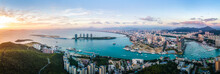 Aerial Photography Of The Architectural Landscape Of Sanya, China