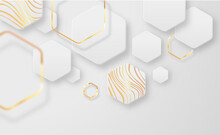 Abstract Gold White 3d Geometric Shape Background