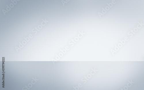 Fototapeta Silver blue grey polished reflective steel surface with background horizon. obraz
