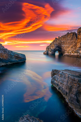Vászonkép Seascape at sunset