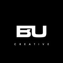 BU Letter Initial Logo Design Template Vector Illustration