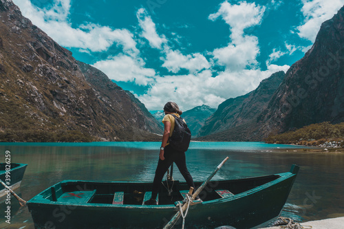Photographie Travel in the mountains and beautiful lagoons of Peru