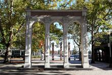 Portland, Oregon: Ankeny Square In Downtown Portland