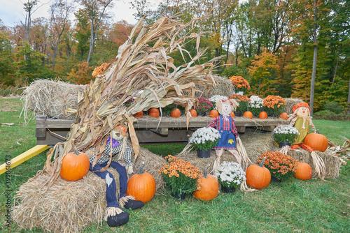 Slika na platnu halloween hay wagon