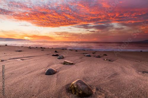 Fototapety, obrazy: Sunset Ocean Beach Clouds