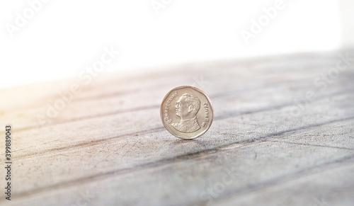 Fotografija The Thai five baht coin ,  Money coin of Thailand