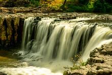 Beautiful Powerful Haruru Waterfall In Paihia In The Bay Of Islands In New Zealand