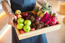 Tray With Tropical Fruits.