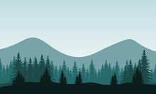 Amazing Nature Scenery City Edge In The Morning. City Vector