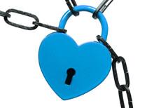 Lock Of Love - Blue Heart Lock
