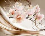 3d wallpaper beautiful white flower