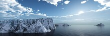 Glaciers Are Melting, Global Warming, Icebergs In The Ocean Are Melting, Ice Landscape