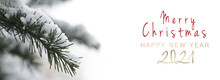 Greeting Card 2021 Winter Banner On White Background