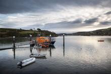 Salcombe Lifeboat Moored In Salcombe Harbour, Devon, UK