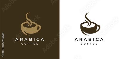 Valokuvatapetti Premium coffee shop logo