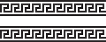 Meander And Wave. Ancient Greek Borders. Set Of Ornaments