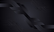Black Abstract Background With Geometric Shapes.