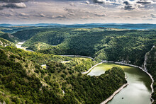 Uvac River Meandering Through The Mountains, Uvac Special Nature Reserve, Serbia