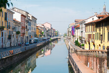 Naviglio Canal Of Milan, Italy