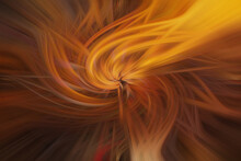 Abstract Brown, Red  And Yellow Fractal Burst Background