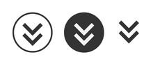 Chevron Double Down Icon . Web Icon Set .vector Illustration