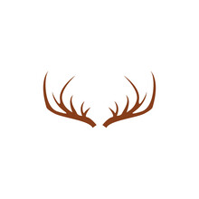 Deer Antler Logo And Symbol Vector