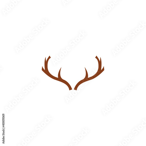 Foto deer antler logo and symbol vector