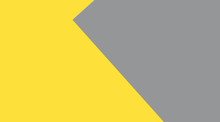 Color Of The Year 2021 - Vibrant Yellow And Neutral Gray, Lay Out With Space For Text, Color Template. Large Illustration