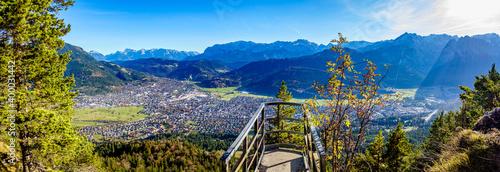 view in Garmisch-Partenkirchen - Kramer Mountain and Felsen-Kanzel