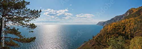 Obraz lake baikal in autumn - fototapety do salonu