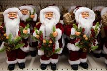 Photo Portrait Of A Happy Toy Doll Santa Claus