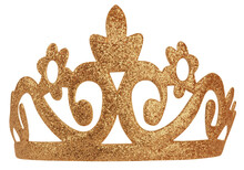 Tiara Crown Sparkling Ornament Isolated On White Background