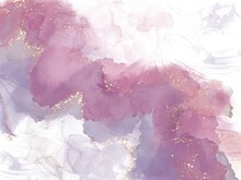 Romantic Texture Watercolor. Rose Alcohol Ink Texture. Gold Water Colour Diffusion. Spiritual Science. Purple Color Marbling. Pastel Oil Paint. Ink Matte.