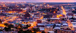 canvas print picture - Aerial view of Bloemfontein, Free State, South Africa, by night.