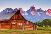 Mormon Row In Grand Teton National Park In Wyoming At Dawn