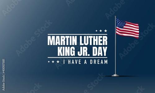 Fototapeta Martin Luther King Jr. Day Background. Banner, Poster, Greeting Card. obraz