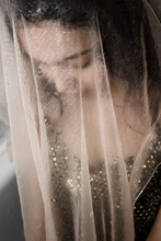 Photo Of Young Woman Through The Wet Cloth
