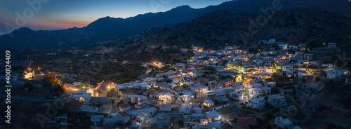 Obraz Sellia, a mountain village near Plakias on Crete - fototapety do salonu