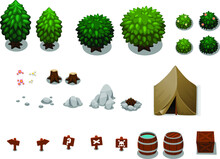 Camping Objects Illustration